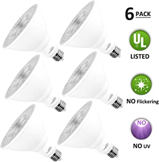 PAR38 LED Dimmable Bulb, LED Flood Light Bulb, 18W (180W Equivalent), 5000K Daylight, E26 Base, CRI 80+, 60° Beam Degrees, Perfect for Indoor and Outdoor Use (Par38-180w, 6 Pack)