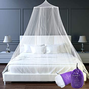 Color : Natural, Size : 120/×200cm ZHAO YELONG Mosquito Nets U-type,Bed Canopy,netting Curtains for Single//Double Bed Princess Telescopic Netting Bedding Cute Decoration