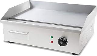 vertes 3000 W Plancha électrique professionnelle, lissé (Température jusqu'à 300 °C, Collecteur de graisse, Surface en fon...