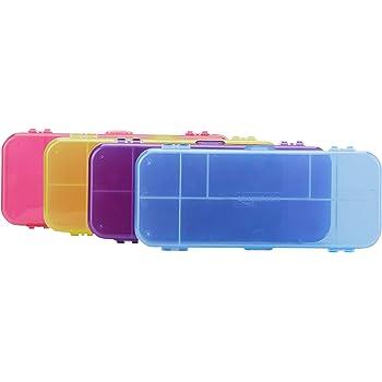 AmazonBasics Pencil Case - Pack of 4, Multi-Color