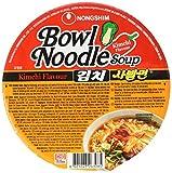 Nong Shim Instantnudeln Kimchi Bowl Noodle Soup – Koreanische Ramen Nudelsuppe - schnelle