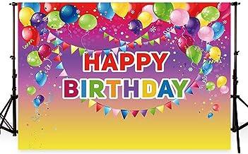 WaW Fondo de Fotografía para Fotos de Cumpleaños de Fondo para Estudio fotográfico Fondo para Fotos Cumpleaños Color Rojo 7x5pies