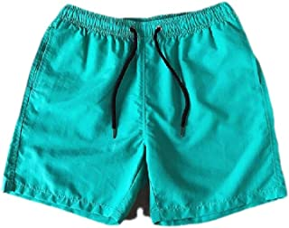MogogoMen Swimwear Shorts Quick Drying Pockets Candy Color Bermuda Shorts