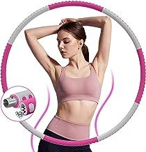 DUTISON Hoelahoepel voor volwassenen, instelbare gewichten, fitnesshoepel voor gewichtsverlies, 8 segmenten, stabiele roes...