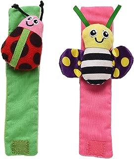 Ronshin Fashion 2Pcs Infant Baby Insect Shape Socks Rattle Toys Wrist Foot Socks Rattle