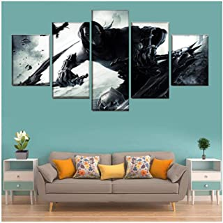 Junewind Canvas Painting A Set of Canvas Painting 5 Pieces Game Darksiders 2 Poster Hd Print Picture for Living Room Wall Artist Residence Decoration-SIZE3