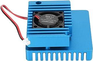 アルミニウム合金コンピュータアクセサリ冷却ケース、N-anoPi R1S R2Sヒートシンク用の丈夫な頑丈(blue)