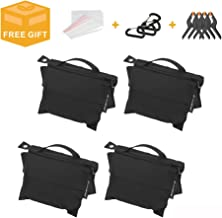 Photography Sand Bag Professional Saddle Weight Bag Photo Video Studio Stand, Without Sand (4 Pack)