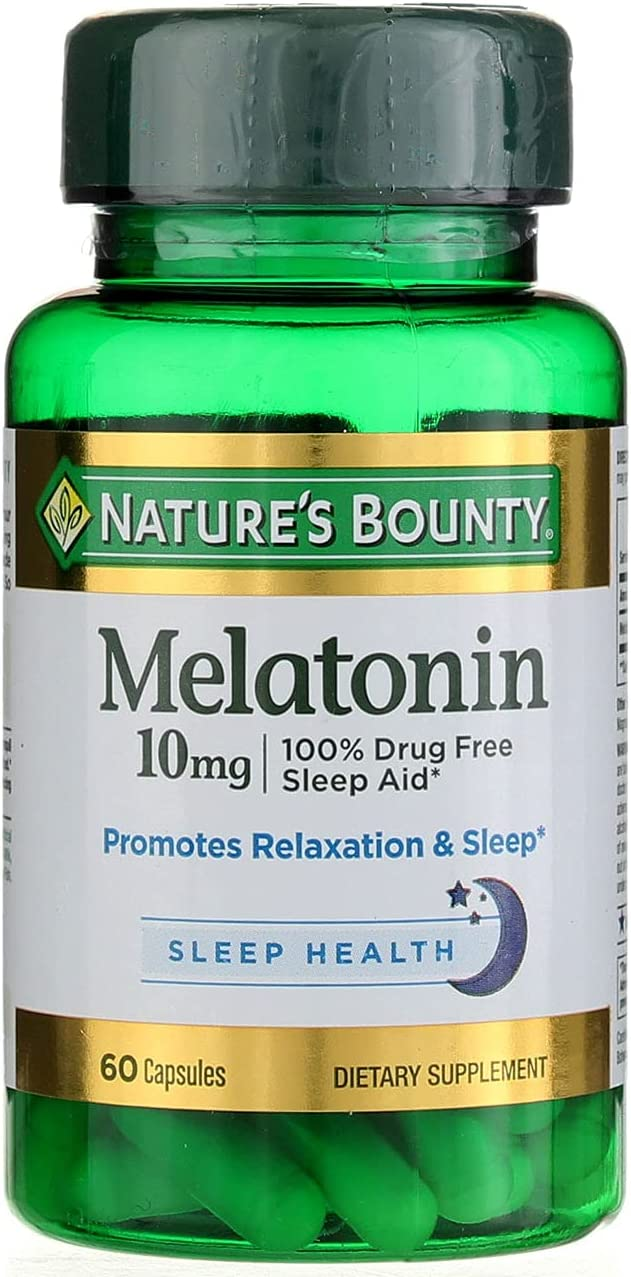 Nature's Bounty Melatonin Recommended 10mg Capsules of Pack Clearance SALE Limited time 2 ea 60