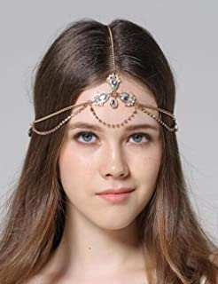 Best rhinestone goddess chain headdress Reviews