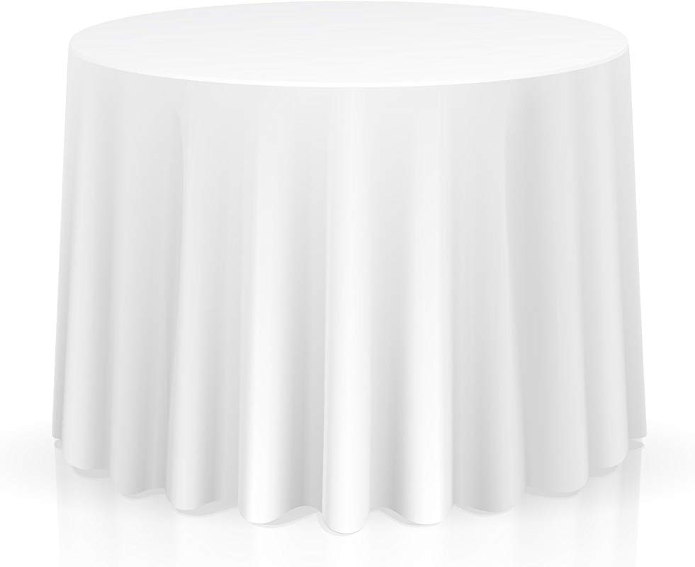 Lann S Linens 10 Premium 120 Round Tablecloths For Wedding Banquet Restaurant Polyester Fabric Table Cloths White