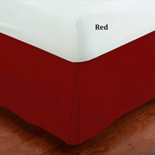 Fancy Collection Full Size Easy Care Tailored Microfiber 14-inch Bed Skirt Solid Red