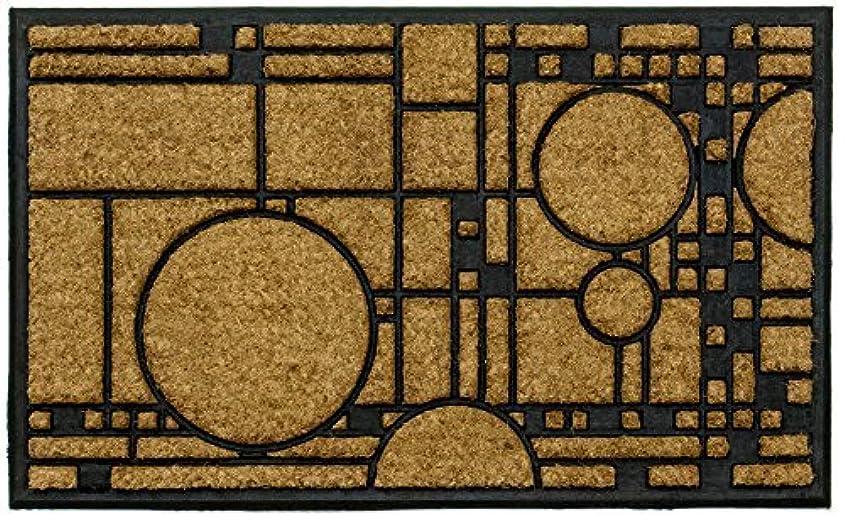 スキッパービタミンタイムリーなFrank Lloyd Wright Coonley Playhouse Doormat [並行輸入品]
