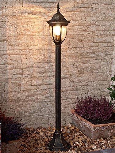 *Wegeleuchte Milano Goldantik E27 MAX 60W Stehlampe Schwarz für Außen Garten Hof Haus Beleuchtung*