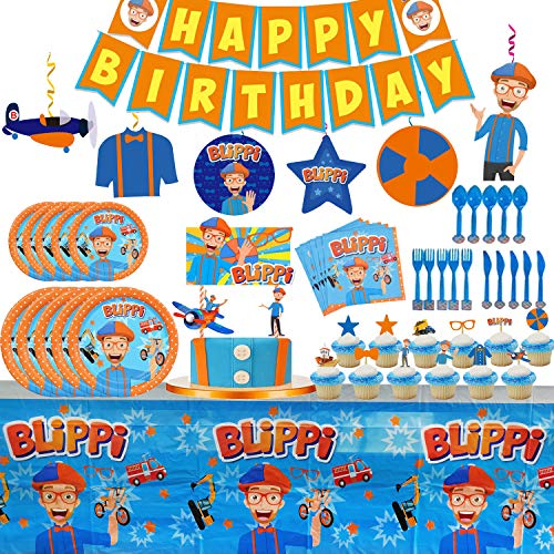 Blippi Party Supplies for Toddler or Kids' Birthday Party