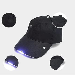 LED Hüt,Baseball Cap, LED-beleuchteten Cap, leuchtende Party-Mütze, Verstellbarer Für Herren Damen(Schwarz)
