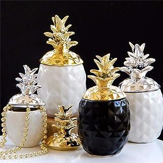 Accueil bocaux à épices Pot Vide en céramique Chic Ananas thé café bocaux de Sucre boîtes de Rangement décor à la Maison O...