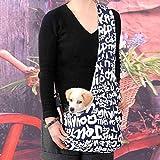 WINOMO Dauerhafte englische Buchstaben gedruckt Oxford Tuch Single-Schulter Sling Bag Haustier Hund Katze Tasche - Größe M