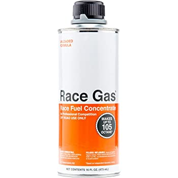 RaceGas 100016 Premium Race Fuel Concentrate Increases Gasoline Up to 105 Octan, 6 Pack