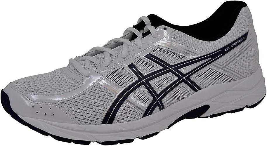 ASICS Pour des hommes Gel-Contend 4 FonctionneHommest chaussures, blanc bleu argent, 10 D(M) US