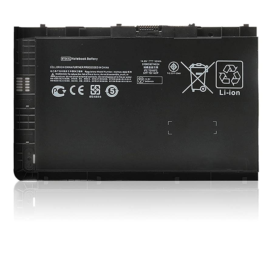 New BT04 BT04XL Notebook Battery for HP EliteBook Folio 9470 9470M Series Laptop fits BA06 BA06XL Battery Spare 687945-001 696621-001 H4Q47AA H4Q48AA HSTNN-I10C HSTNN-DB3Z - 12 Months Warranty