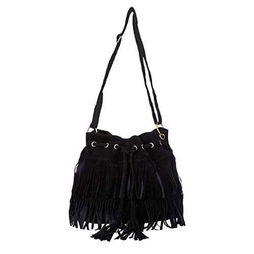 Aimerfeel-Womens Faux Suede Fringe Tassels Cross-body Shoulder Bag Bucket  Bag e892ee5db