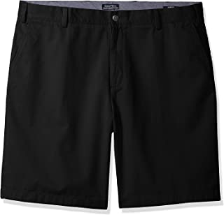 Men's Cotton Twill Flat Front Chino Short, True Black, 33W