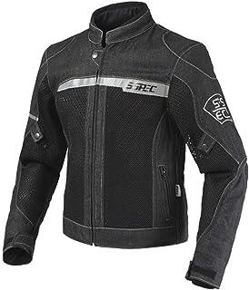 SHOULIEER Veste de Moto de Course décontractée Moto Veste en Jean Respirant Moto vêtements Veste en Jean
