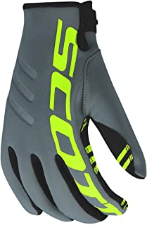 Scott Neoprene II MX 2020 - Guantes de Neopreno para Motocross/DH, Color Gris y Amarillo