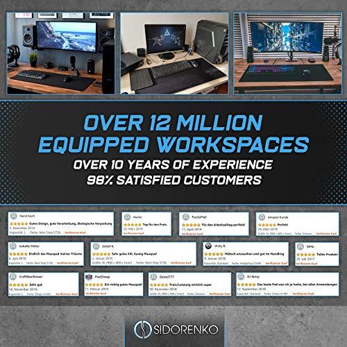 Sidorenko XXL Gaming Mauspad groß – 900 x 400 mm – Fransenfreie Ränder – rutschfest – XXL Mousepad – Schreibtischunterlage – spezielle Oberfläche verbessert Geschwindigkeit – MAXLVL – schwarz - 9