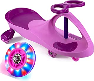 Bestlaixing Wiggle Car Ride on Toys for 3 Year Old and Up Boys Girls with LED Light Up Wheels