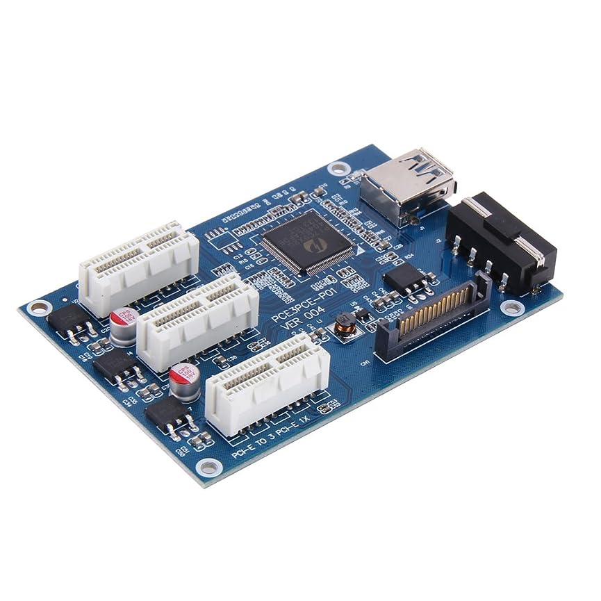 メールの間で財産vanpower 3?in 1?PCI Express PCI E 1?Xスロットライザーカード拡張アダプタPCI - Eポート