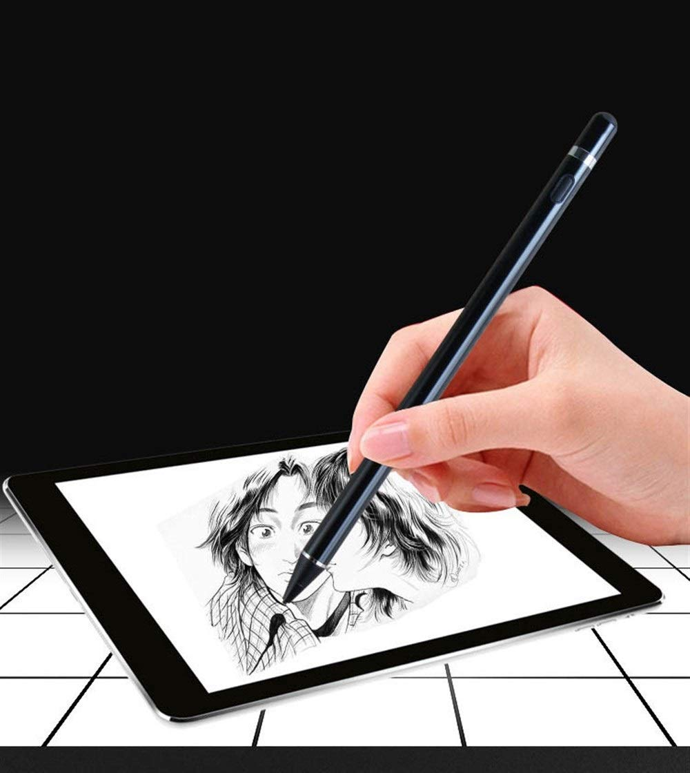 Color : White Compatible with iOS//Android System Active Capacitive Stylus Haoyushangmao Stylus Fine Pen Drawing and Writing Design Tablet and Mobile Phone Universal