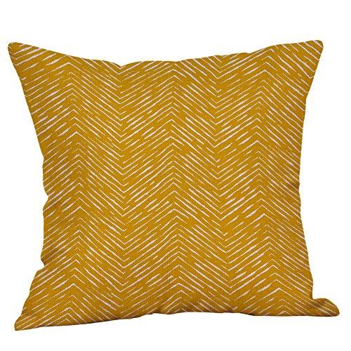 IMJONO Housse de coussin 45 x 45 cm Amour coton lin Géométrie Jaune taies d'oreiller coussin décoratif canapé coussin décoratif Lit Home Decorative Doux Carré(G-1)