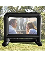 HuaKastro Inflatable Projector Movie Screen for Outside - Front/Rear Large Projector Screen Backyard Outdoor Movie Night Mega Blow Up Screen