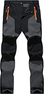 LHHMZ Mens Hiking Trousers Outdoor Lightweight Walking Trousers Thin Stretch Comfortable Climbing Cycling Casual Trousers