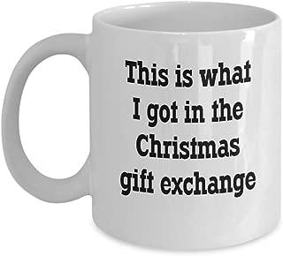 Funny White Elephant Gag Gift Exchange Coffee & Tea Gift Mug