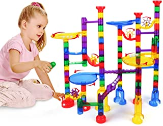 Marble Run Set 122 Pcs - Construction Building Blocks STEM Toys for 4 5 6 7 Year Old Boys Girls Kids