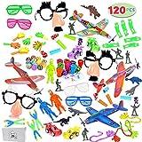 120 Pcs Assortiment de Jouets Remplisseurs de Sacs de Fête Assortiment Party Favors Jouets pour Enfants,Fête d'anniversaire, Récompenses Classes D'école, Jouet de Carnaval, Pinata