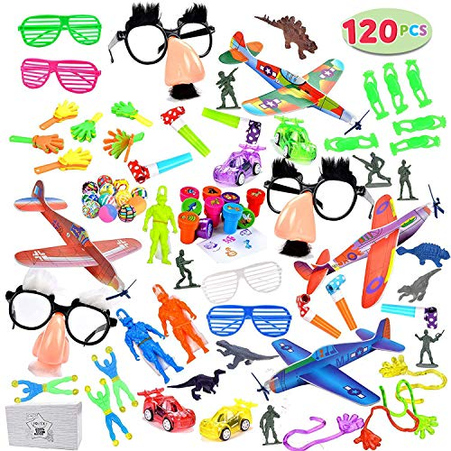 Joyin Toy 120 Pc Party Favor Toy Assortment for Kids Party Favor, Birthday Party, School Classroom Rewards, Carnival Prizes, Pinata Fillers, Easter Egg Stuffers