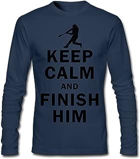 Men's Keep Calm And Finish Him Long Sleeve T-Shirt HeatherGray