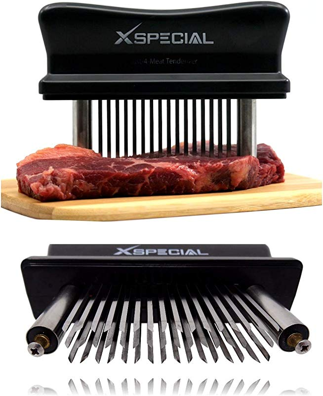 XSpecial Meat Tenderizer Tool TRY IT NOW Taste The Tenderness Or REFUNDED Kitchen Tenderizers 48 Blades Stainless Steel Needle Best For Tenderizing BBQ Marinade Flavor Maximizer