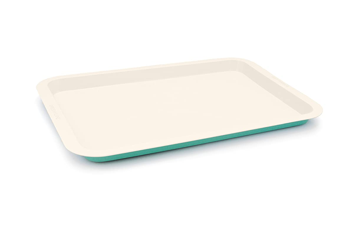 GreenLife Ceramic Non-Stick Cookie Sheet, Turquoise