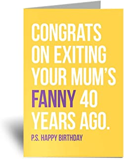 Tarjeta de felicitación de 40 cumpleaños con texto en inglés ...