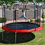 Skywalker Trampolines 15' Round Trampoline with Enclosure and Blue Spring Pad