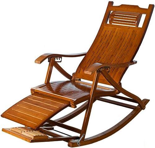 envío gratis Sillas plegables Ocio Hollow Mecedora Mecedora Mecedora Bamboo Mecedora Old Lunch Break Silla Silla Mecedora de Madera Maciza, + Cojín, Desmontable  barato