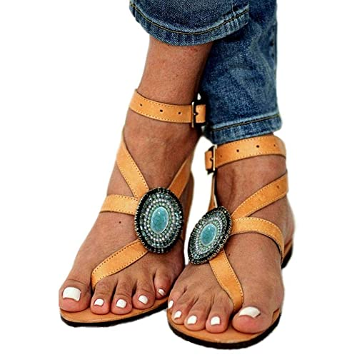 76b39f889f8 Gladiator Sandals Yellow  Amazon.com