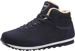 Inlefen Unisex High help Autumn And Winter Keep warm Lightweight Leisure Lacing Flat shoes