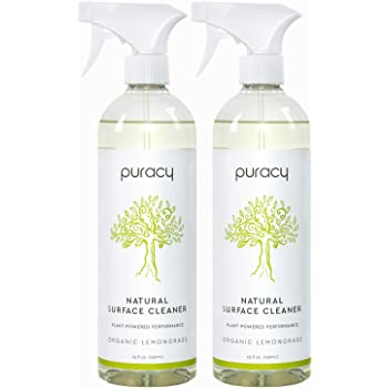 Puracy Multi-Surface Cleaner, Natural All Purpose Cleaner for Kitchens and Bathrooms, 25 Ounce (2-Pack)