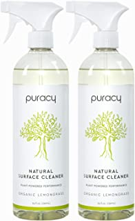 Puracy Multi-Surface Cleaner, Streak-Free Natural All Purpose Cleaner for Kitchens and Bathrooms, 25 Ounce (2-Pack)